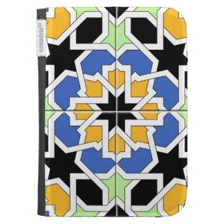 Mosaico 02 de azulejo marroquí azul y negro en