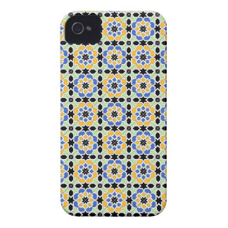 Mosaico 02 en flores de patrón de geometría en Case-Mate iPhone 4 protector