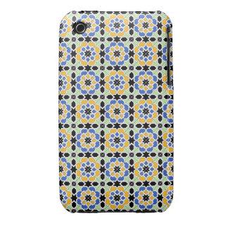 Mosaico 02 en flores de patrón de geometría en iPhone 3 carcasas