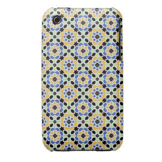 Mosaico 02 en flores de patrón de geometría en iPhone 3 Case-Mate protectores