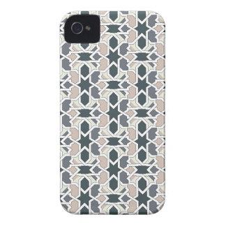 Mosaico 03 en cuerda de patrón de geometría gris Case-Mate iPhone 4 cobertura