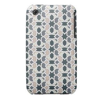 Mosaico 03 en cuerda de patrón de geometría gris funda bareyly there para iPhone 3 de Case-Mate