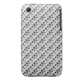 Mosaico 03 en cuerda de patrón de geometría gris iPhone 3 Case-Mate cobertura