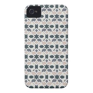 Mosaico 03 en cuerda de patrón de geometría gris iPhone 4 coberturas