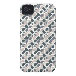 Mosaico 03 en cuerda de patrón de geometría gris iPhone 4 protectores