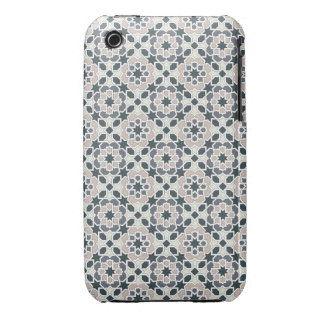 Mosaico 03 en flores de geometría en grises en carcasa para iPhone 3
