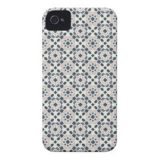 Mosaico 03 en flores de geometría en grises en Case-Mate iPhone 4 fundas