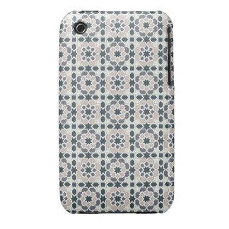 Mosaico 03 en flores de geometría en grises en iPhone 3 Case-Mate protector