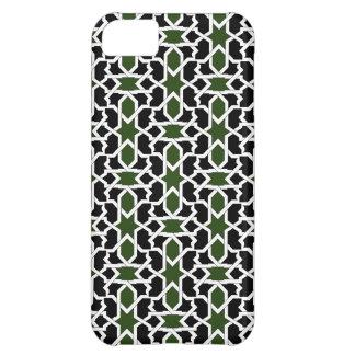 Mosaico 09 de patrón verde y negro de geometría funda para iPhone 5C