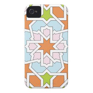 Mosaico 12 de geometría marroquí naranja y rosa Case-Mate iPhone 4 protector