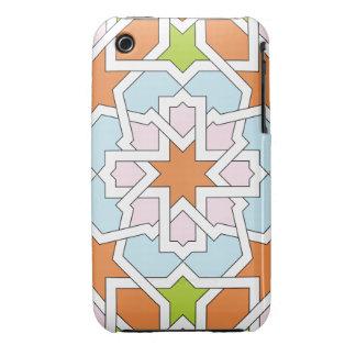 Mosaico 12 de geometría marroquí naranja y rosa funda bareyly there para iPhone 3 de Case-Mate