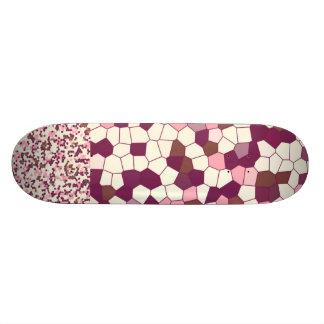 Mosaico abstracto del pastel de queso del arándano tabla de patinar