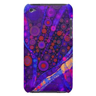 Mosaico abstracto fresco de los círculos concéntri iPod touch Case-Mate protector