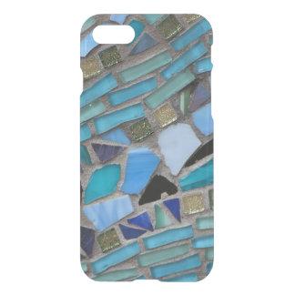 Mosaico azul del vidrio del mar funda para iPhone 7