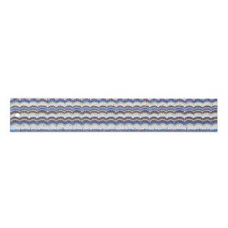 Mosaico azul regla de 12 pulgadas