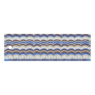 Mosaico azul regla de 6 pulgadas