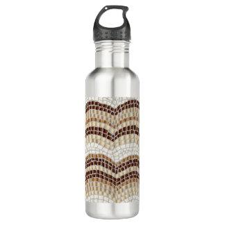 Mosaico beige 24 botellas de agua de la onza