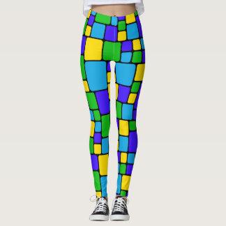 Mosaico colorido Legging