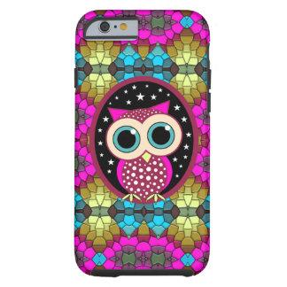 mosaico con el búho rosado funda de iPhone 6 tough