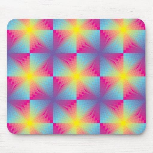 Mosaico cuadrado abstracto del vector tapete de ratones