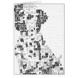 Mosaico dálmata vivaracho de la letra tarjeton