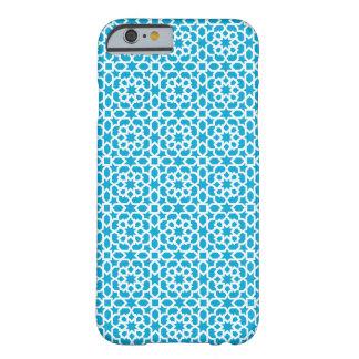 Mosaico de azulejo de cerámica marroquí en azul funda para iPhone 6 barely there