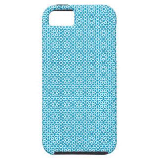 Mosaico de azulejo de cerámica marroquí en azul iPhone 5 coberturas