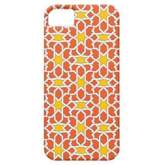 Mosaico de azulejo marroquí en naranja y amarillo funda para iPhone SE/5/5s