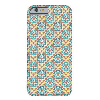 Mosaico de azulejo y arabesco amarillo y verde funda barely there iPhone 6