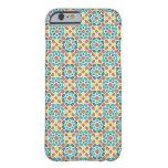 Mosaico de azulejo y arabesco amarillo y verde funda de iPhone 6 barely there