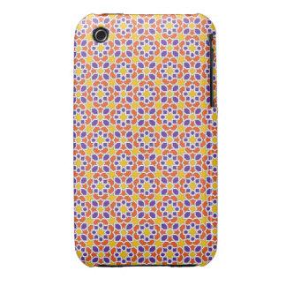 Mosaico de azulejos de Marruecos. Arabesco morisco iPhone 3 Case-Mate Funda