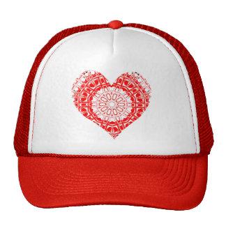 Mosaico de cristal del efecto rojo/blanco (corazón gorro