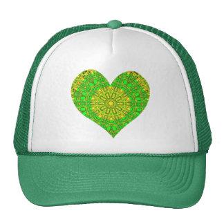 Mosaico de cristal del efecto verde/amarillo (cora gorras