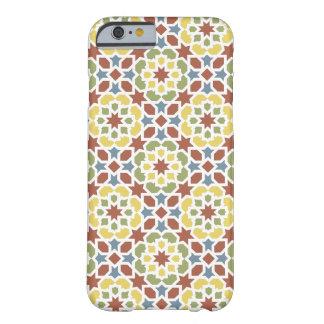 Mosaico de flores y color de Marruecos geométrico. Funda Para iPhone 6 Barely There