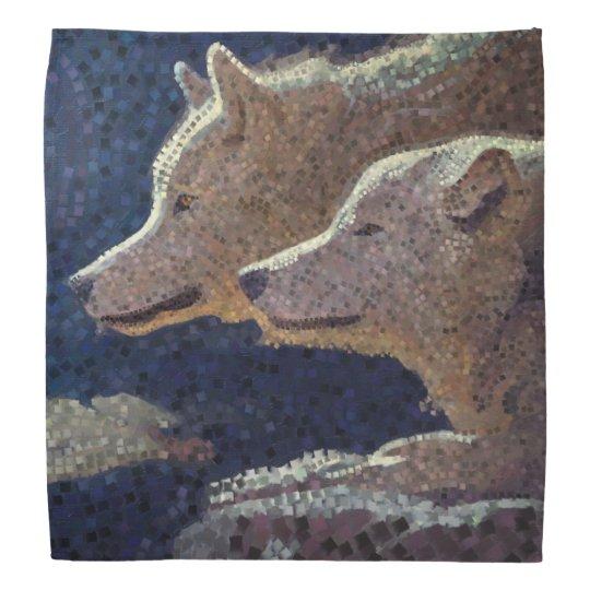 Mosaico de los lobos - pañuelo bandanas