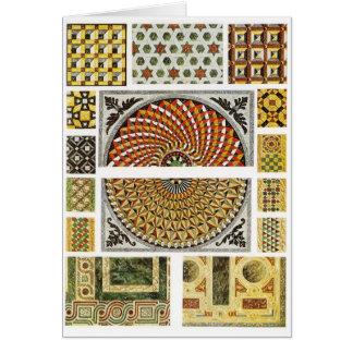 Mosaico de mármol bizantino del piso tarjeta