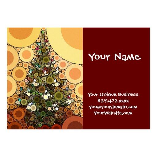 Mosaico del círculo del árbol de navidad buenas fi tarjeta de negocio