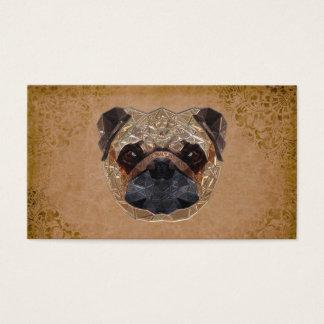 Mosaico del perro tarjeta de visita