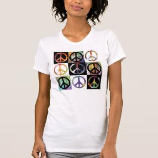 Mosaico del signo de la paz camiseta