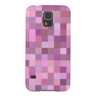 Mosaico en colores pastel rosado carcasa galaxy s5