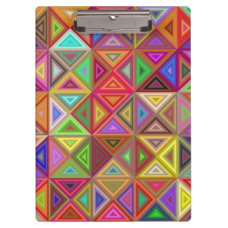 Mosaico feliz del triángulo carpeta de pinza
