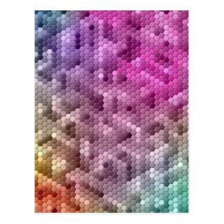 Mosaico fresco del color del arco iris postal