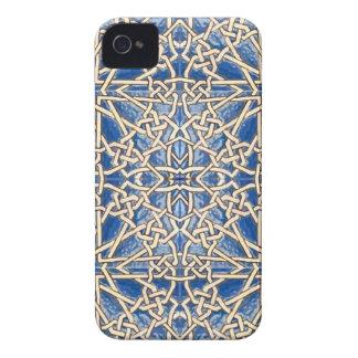 Mosaico geométrico con trenzado de cuerda morisco carcasa para iPhone 4 de Case-Mate