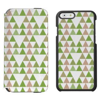 Mosaico geométrico del árbol de la col rizada del funda cartera para iPhone 6 watson