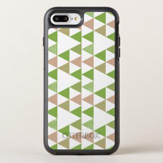 Mosaico geométrico del árbol de la col rizada del funda OtterBox symmetry para iPhone 7 plus