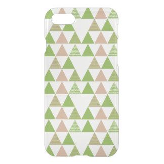 Mosaico geométrico del árbol de la col rizada del funda para iPhone 7