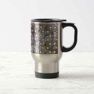 Mosaico gris taza térmica