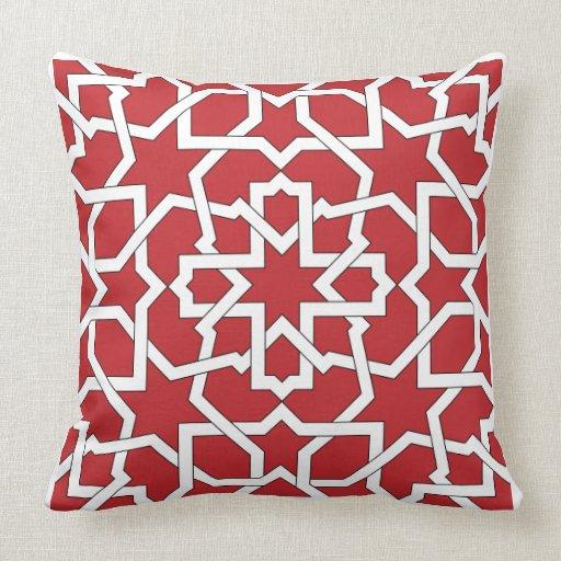 Mosaico marroqu de trazado geom trico en cojines zazzle for Mosaico marroqui