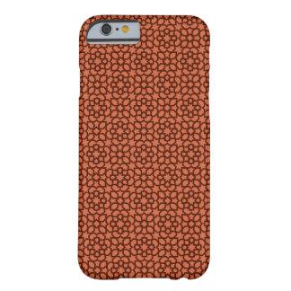 Mosaico rojo y patrón arabesco geométrico. funda de iPhone 6 barely there