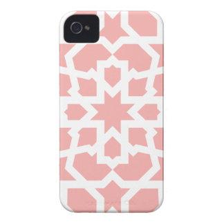 Mosaico rosa de azulejo marroquí geométrico en Case-Mate iPhone 4 protectores